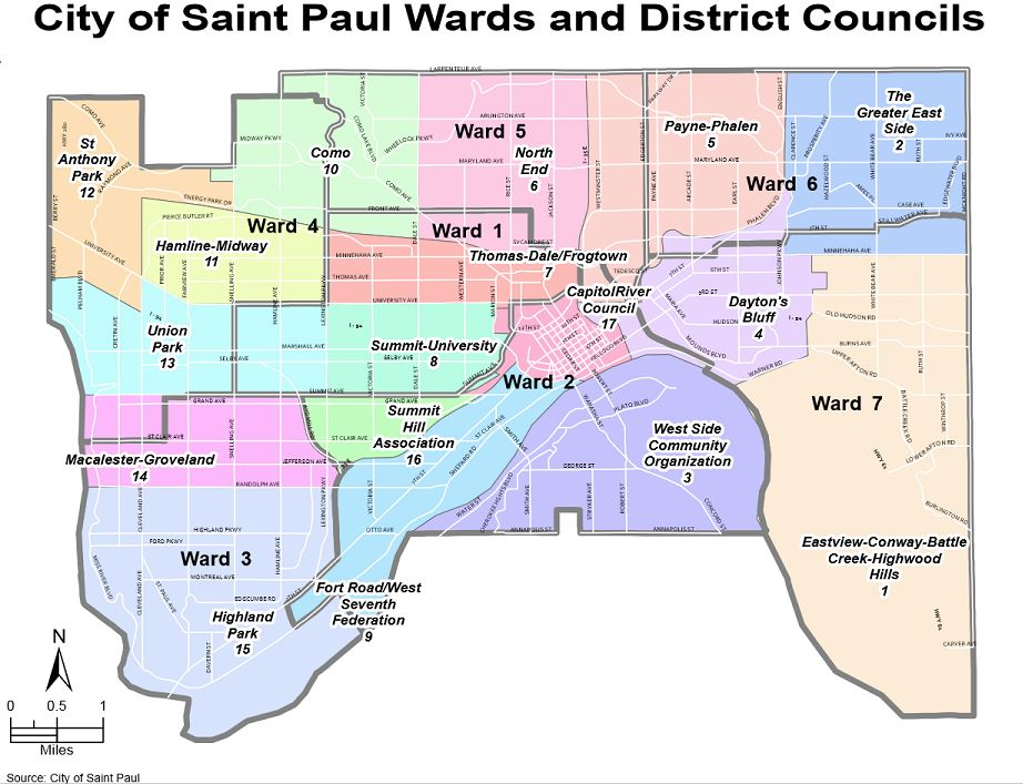 Saint Paul Districts and Wards